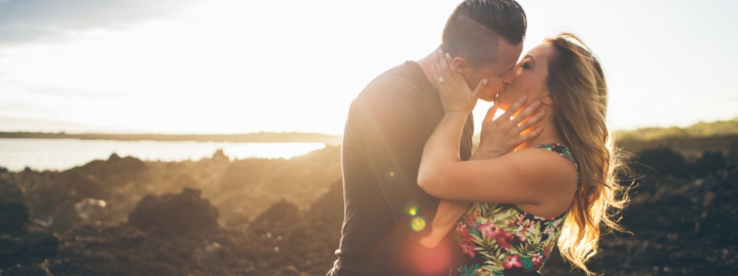 an engagement photography session in Makena, Maui