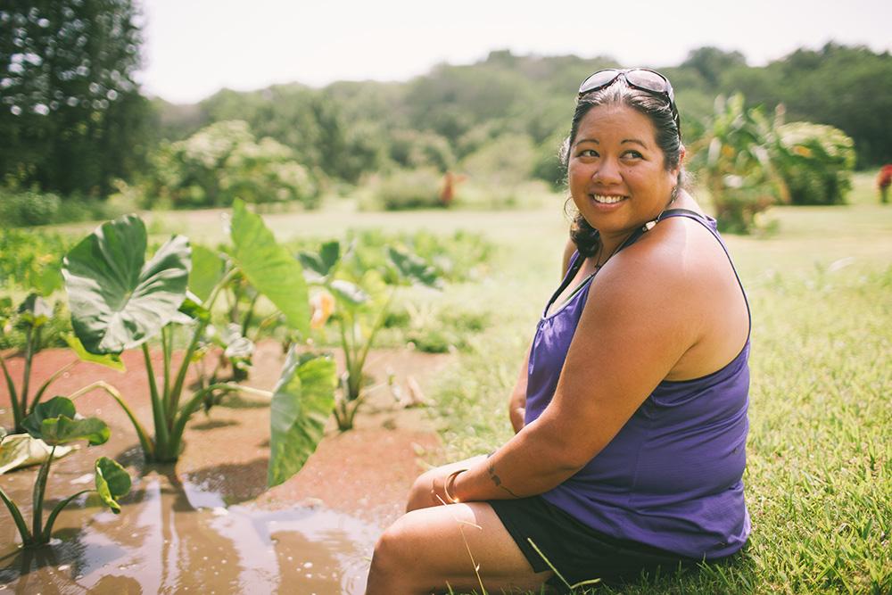 kehau at her taro patches
