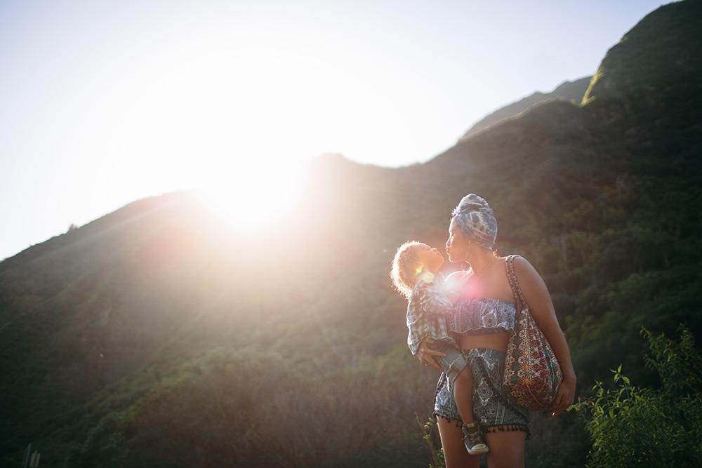 maui family photographer photographs kelli love in iao valley.