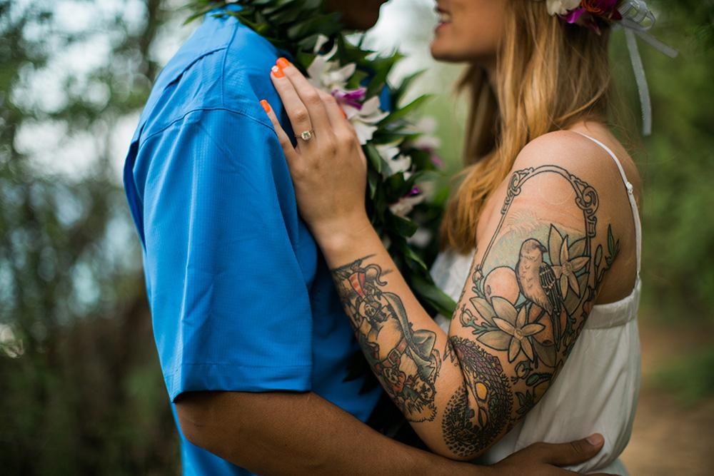 tattoo maui engagement photography