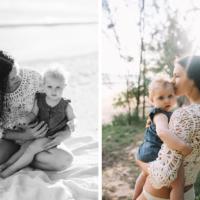 tara & gaia – baby beach, paia – maui family photography