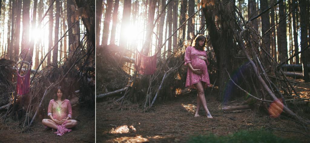 beautiful boho upcountry photo shoot in maui, hawaii for maternity photography.
