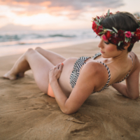 anne x southside sunset | hawaii maternity photography