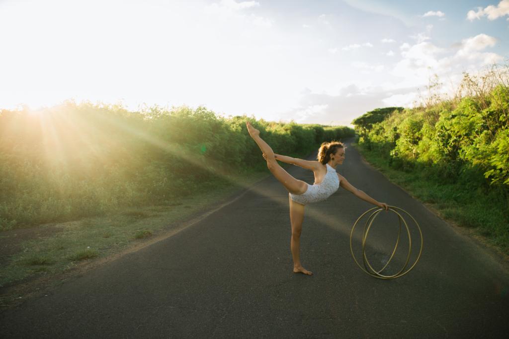 hula hooping hawaii