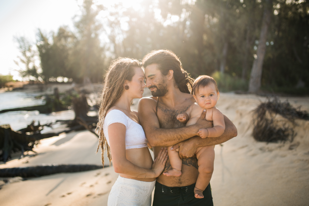 family with dreadlocks in hawaii. the cutest.