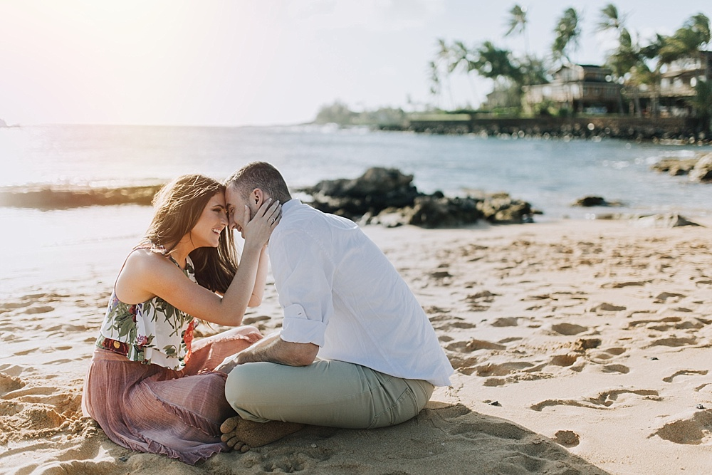 poipu engagement photos on kauai, hawaii by cadencia photography of MAui.