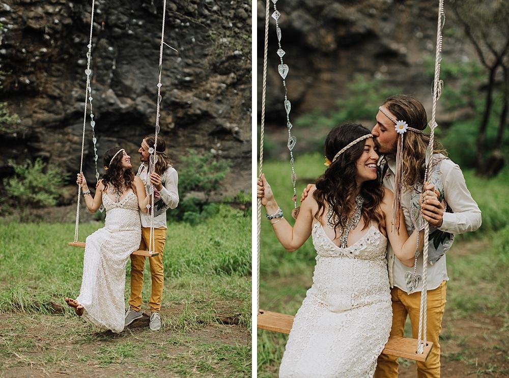 gypsy halos boho wedding photography in maui, hawaii.