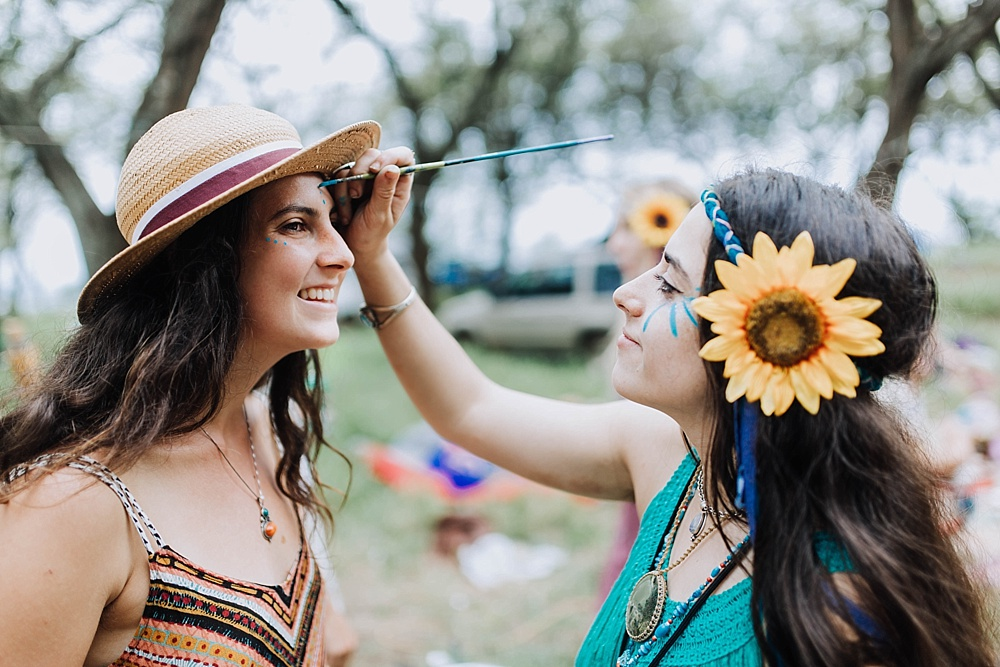 hippie wedding hawaii - gypsy halos