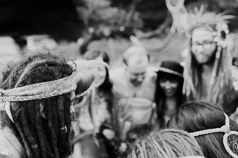 gypsy halos - rainbow hippie village wedding in maui, hawaii.