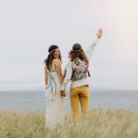 emily & alvaro | gypsy halos | rainbow hippie village wedding