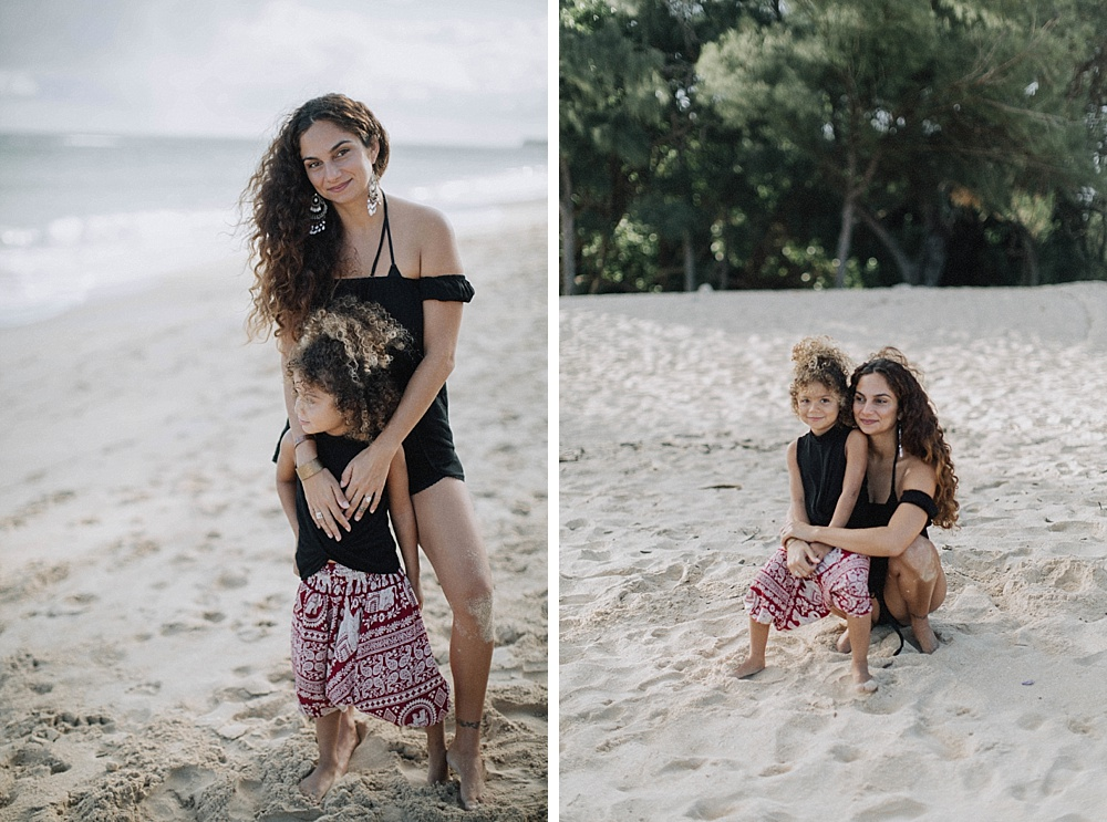 family photographer cadencia shoots at baldwin beach in paia for a photography session.