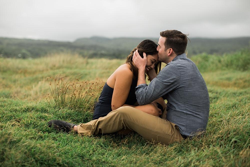 Beautiful engagement photography in Hana, Maui.