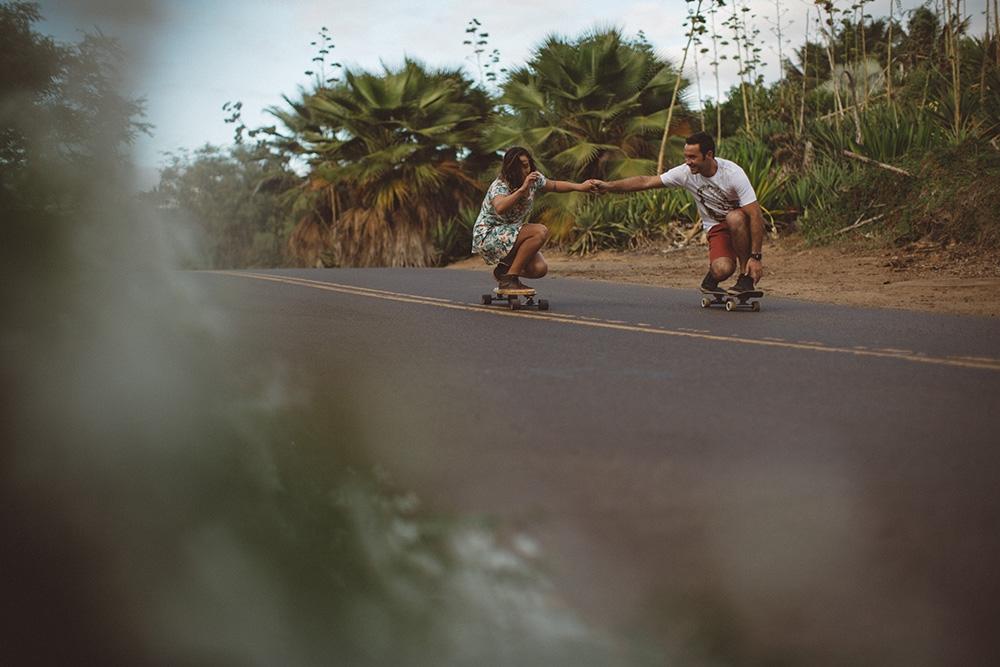 skating theme engagement photos