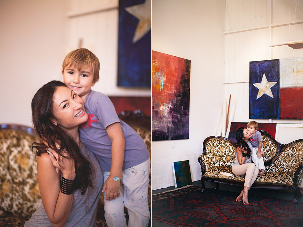 annika banko, Maui artist, and her son