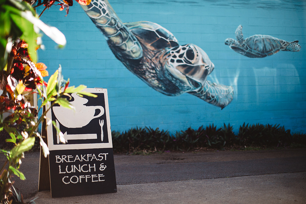 maui photographer cadencia photography photographs paia bay coffee on Maui.