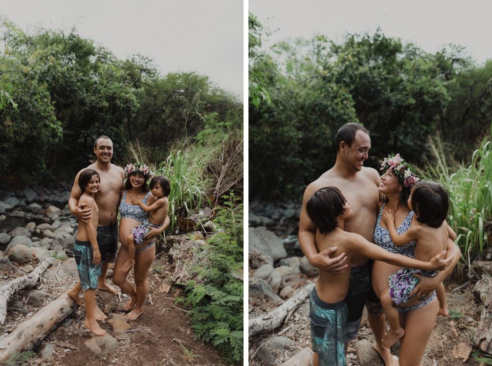 family and maternity photos in lahaina, hawaii