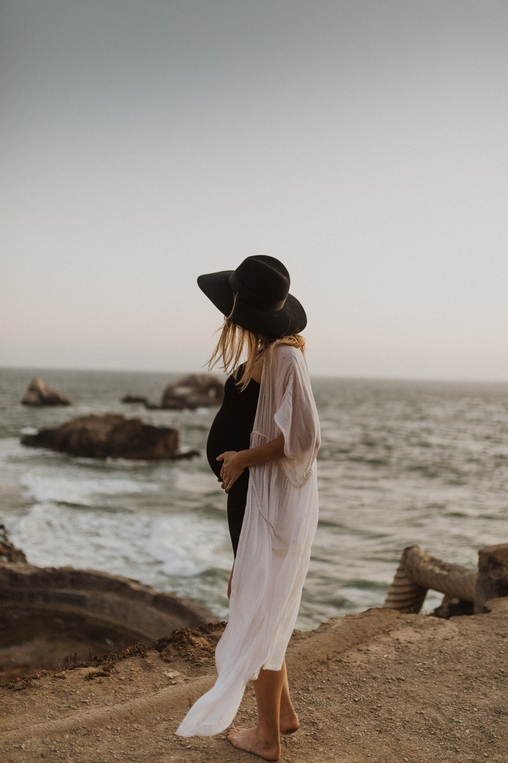 maternity photography at sutro baths